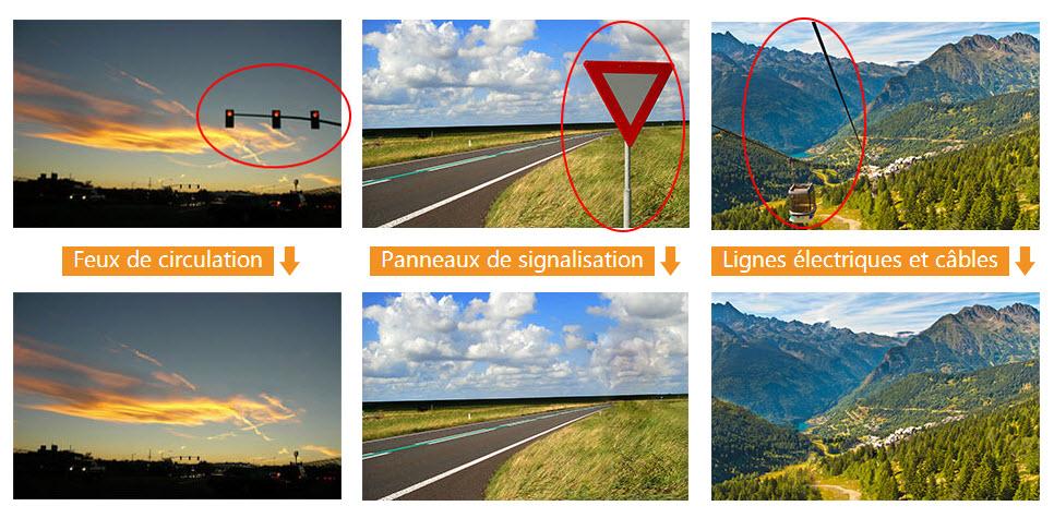 suppression feux de circulation et panneaux