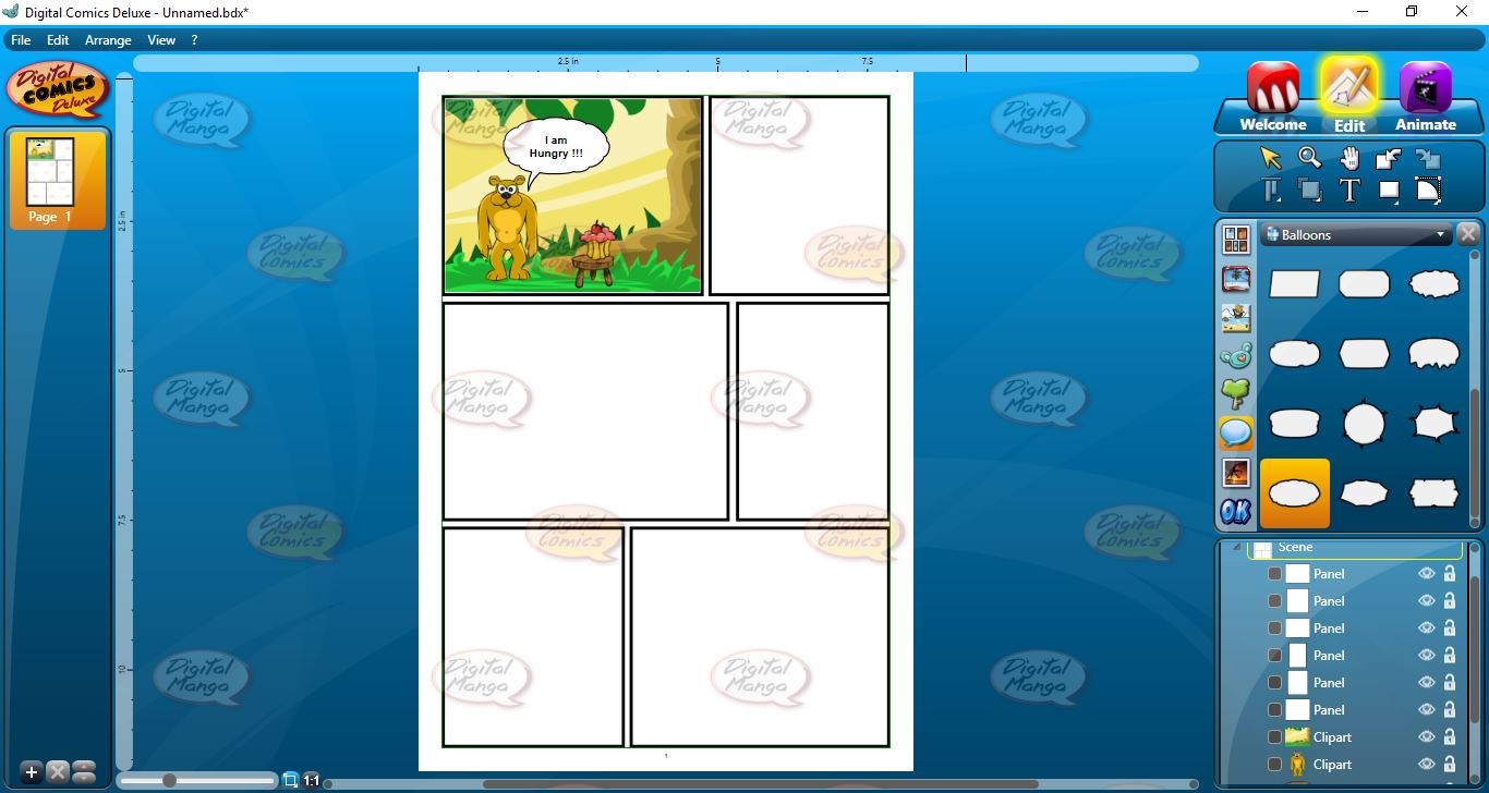 Create and animate your own comic strips!