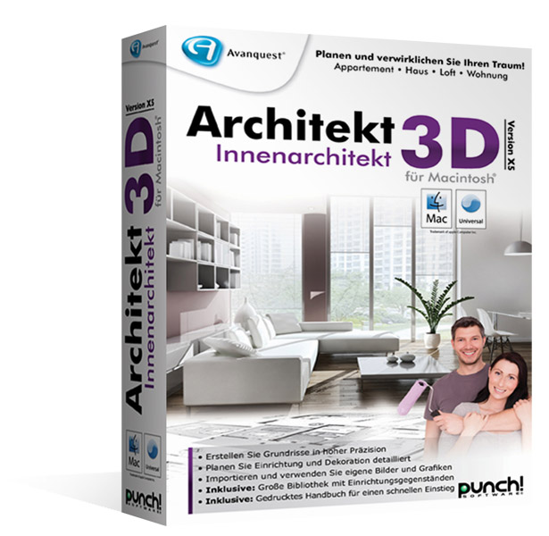 Architekt 3d x5 innenarchitekt f r mac fotorealistische for Innenarchitektur software
