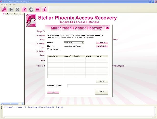 Repairs Recovers Corrupted MS Access Files