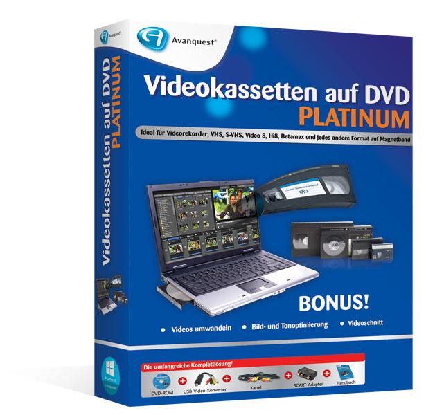 Videokassetten auf DVD Platinum