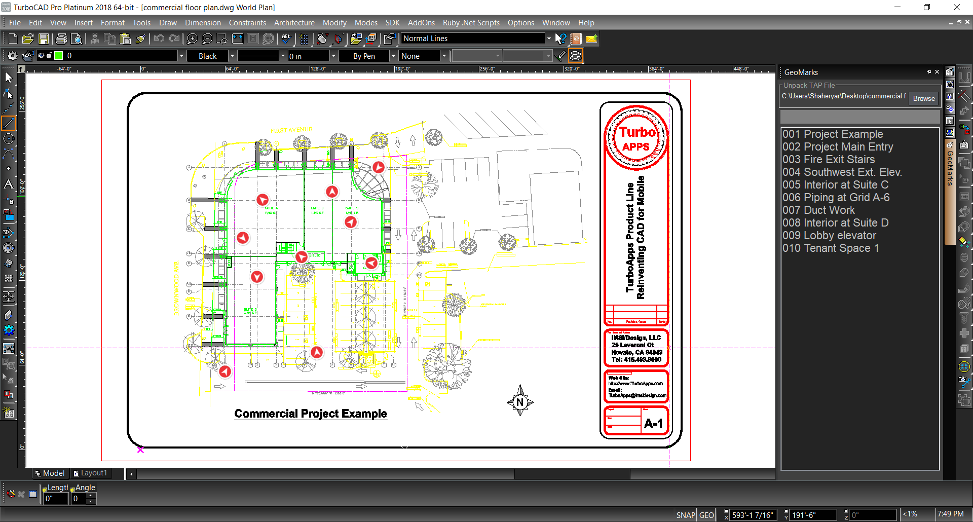 Turbocad 2018 expert advanced 2d 3d cad with specialised for 2d architectural drawing software free