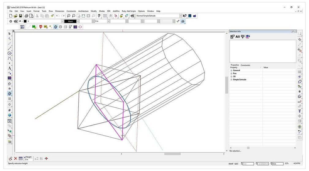 TurboCAD 2019 Professional - Advanced 2D/3D CAD with specialised
