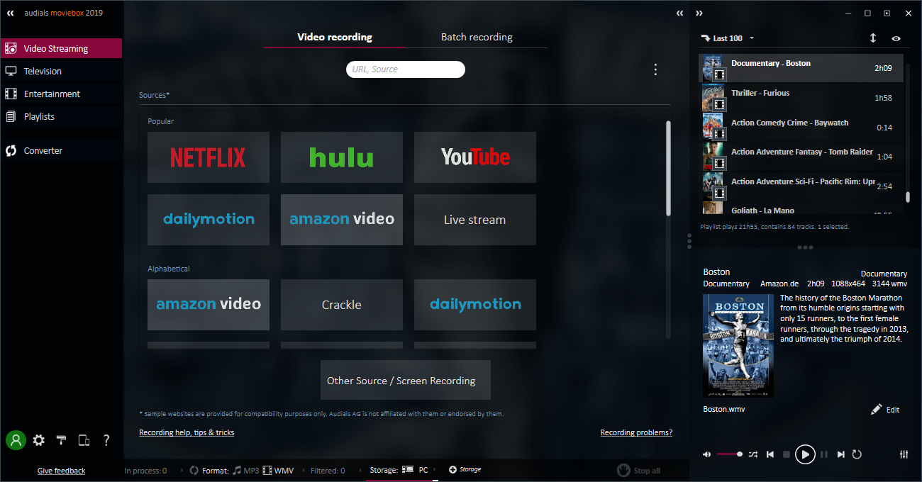 Record and Convert Movies, Video Streams & DVDs To Enjoy Anywhere